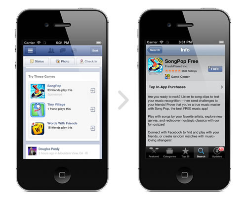 Facebook Mobile advertising